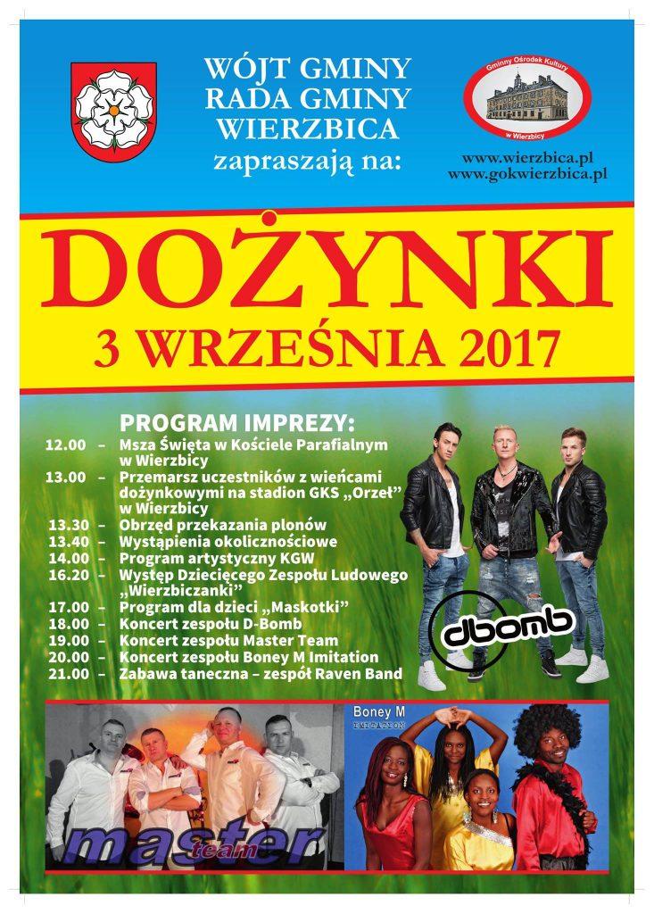 Dożynki 2017 Plakat