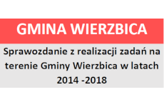 Więcej o: Sprawozdanie z realizacji zadań na terenie Gminy Wierzbica w latach 2014 – 2018