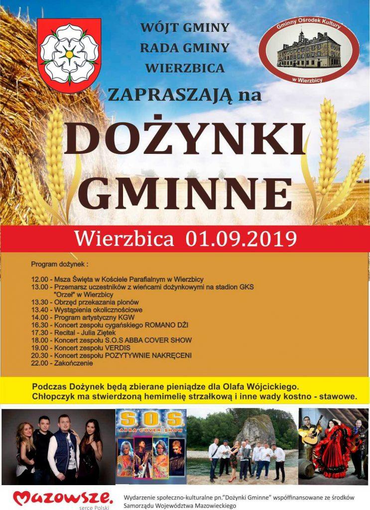 Plakat Dożynki 2019