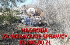 Więcej o: Nagroda za pomoc w znalezieniu sprawców podrzucenia odpadów chemicznych w Wierzbicy.