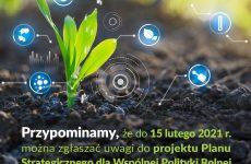 Więcej o: Projekt Planu Strategicznego Wspólnej Polityki Rolnej na lata 2023 – 2027